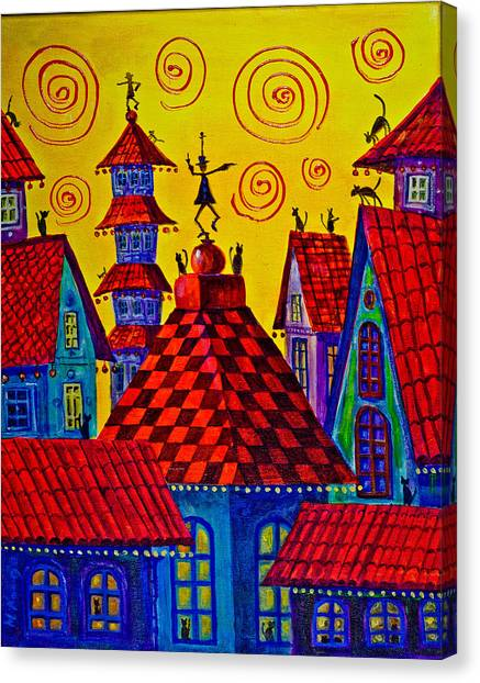 Magic Town 4 Canvas Print