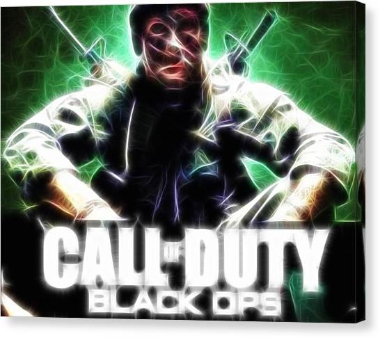 Xbox Canvas Print - Magical Call Of Duty by Paul Van Scott