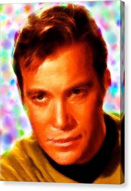 James T. Kirk Canvas Print - Magical Kirk by Paul Van Scott