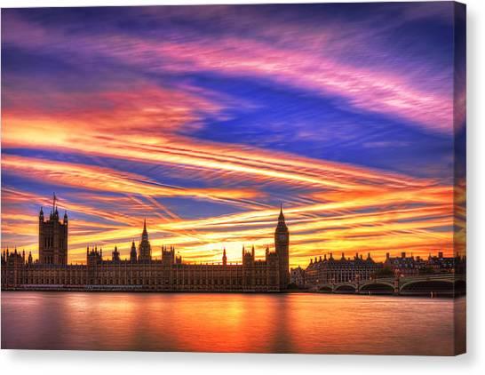 Parliament Canvas Print - Magical London by Midori Chan