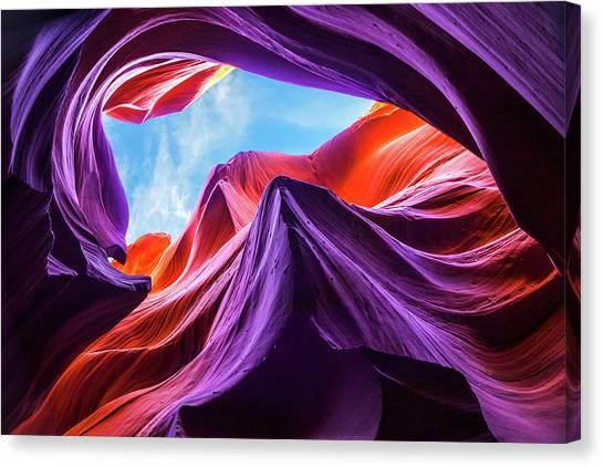 Magical Lower Antelope Canyon Canvas Print by Nanouk El Gamal