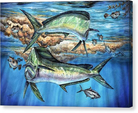 Magical Mahi Mahi Sargassum Canvas Print