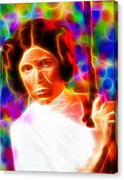 Leia Organa Canvas Print - Magical Princess Leia by Paul Van Scott