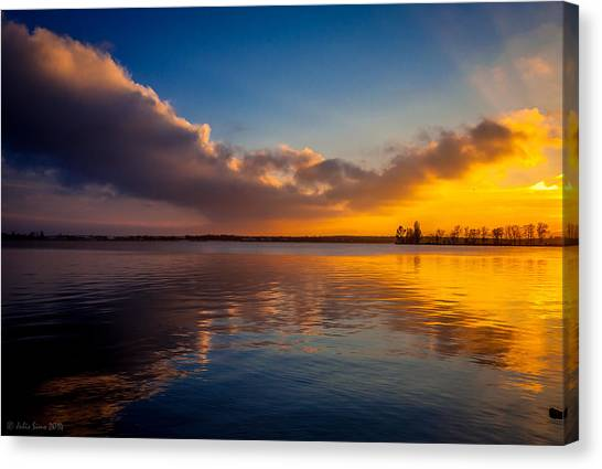 Magical Reflections Of Sundown Canvas Print