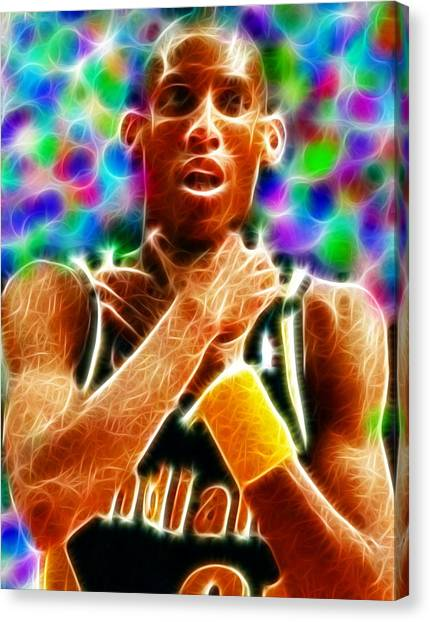 Indiana Pacers Canvas Print - Magical Reggie Miller Choke by Paul Van Scott