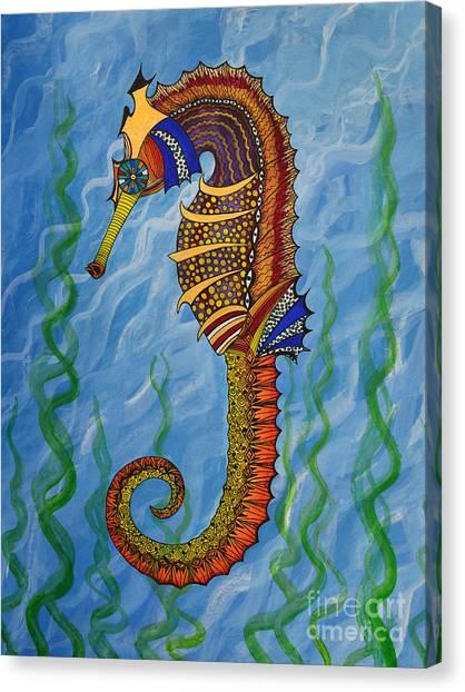 Magical Seahorse Canvas Print
