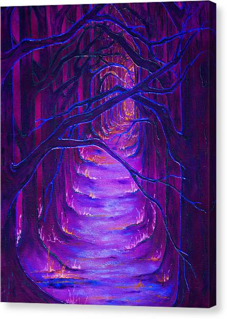 Magick Forest Canvas Print by Luanna Swaney