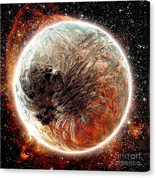 Magma Planet Canvas Print by Bernard MICHEL