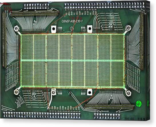 Computer Science Canvas Print - Magnetic-core Memory Of Siemens Computer by Pasieka