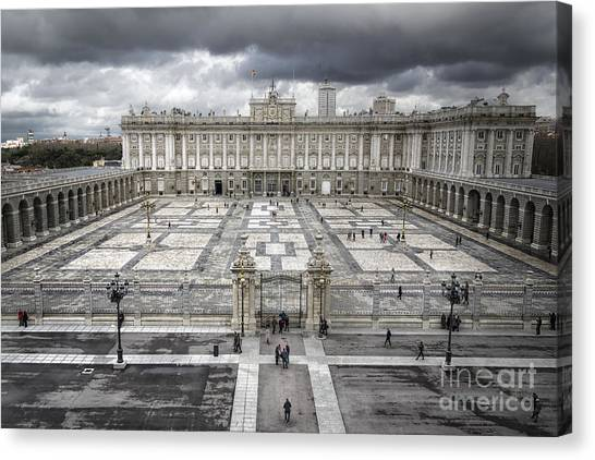 Baroque Art Canvas Print - Magnificent Palace View by Joan Carroll