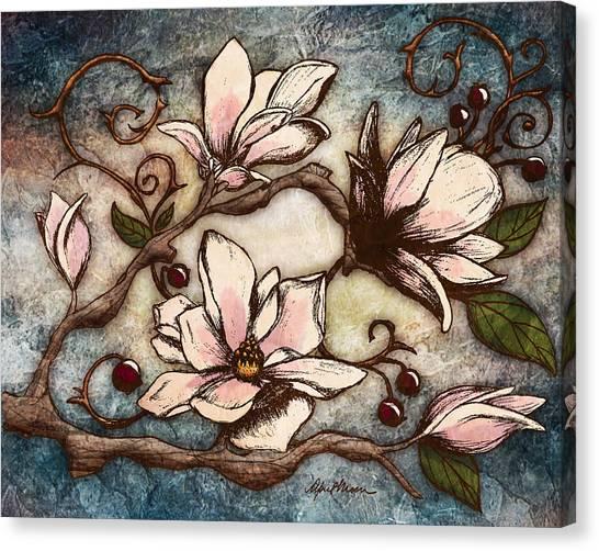 Branch Canvas Print - Magnolia Branch I by April Moen