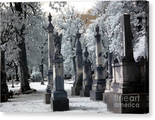 Magnolia Cemetery - Augusta Georgia - Confederate Military Graveyard  Canvas Print by Kathy Fornal