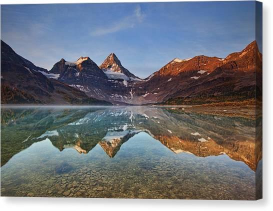 Rocky Mountains Canvas Print - Magog Lake by Yan Zhang
