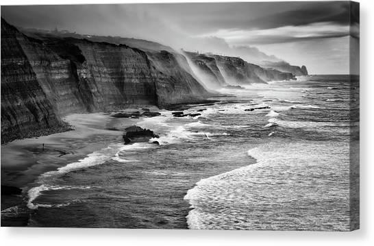 Beach Cliffs Canvas Print - Magoito Beach by Filipe Tomaz Silva