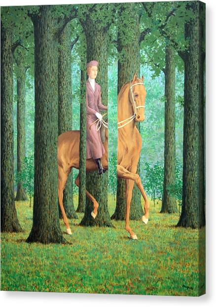 Magritte's The Blank Signature Canvas Print