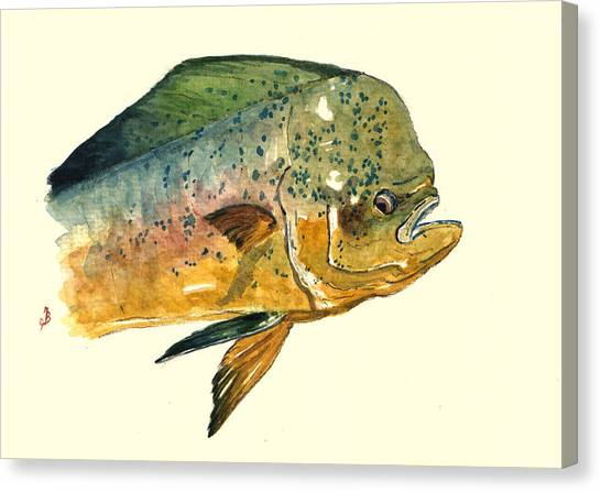 Salt Canvas Print - Mahi Mahi Fish by Juan  Bosco