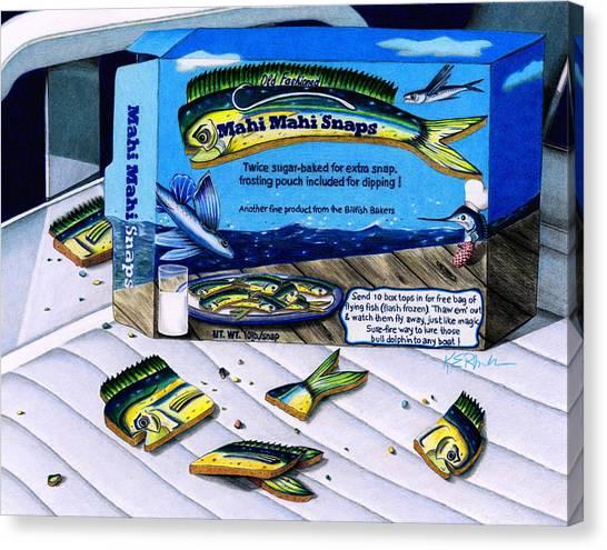 Ginger Snap Canvas Print - Mahi Mahi Snaps by Karen Rhodes