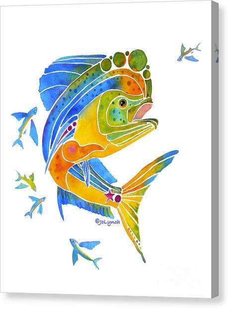 Mahi Saltwater Fish Art Gifts Canvas Print