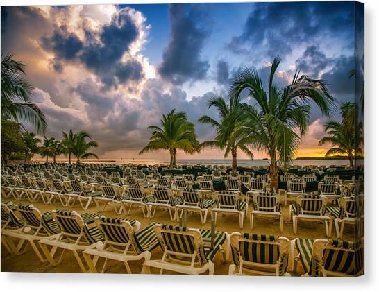 Mahogany Bay Beach-roatan-honduras Canvas Print