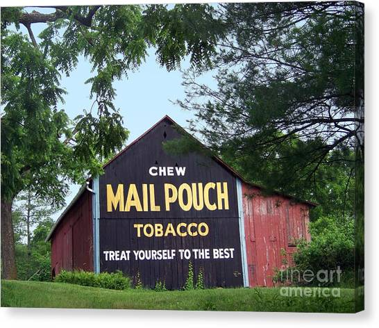 Mail Pouch Barn Framed Canvas Print