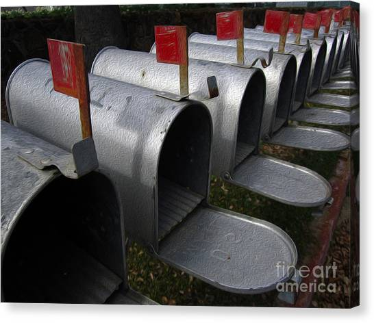 Mailboxes Canvas Print by Dan Julien