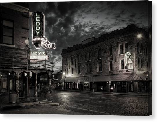 Main And Exchange Bw Canvas Print