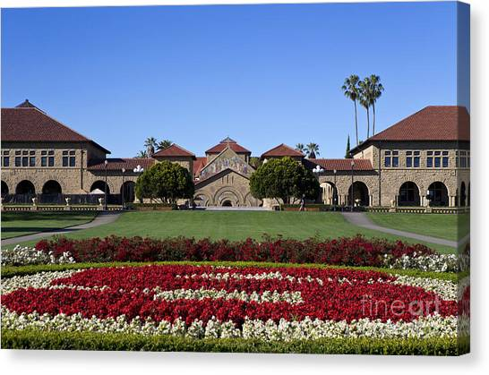 Pac 12 Canvas Print - Main Quad Stanford California by Jason O Watson