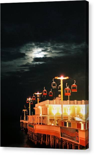 Main St Pier Sky Lift Canvas Print by Paulette Maffucci