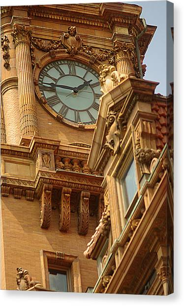 Main St Station Clock Tower Richmond Va Canvas Print