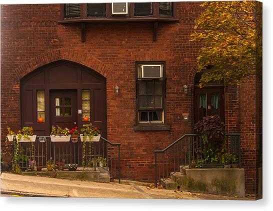 Main Street At Halloween Canvas Print