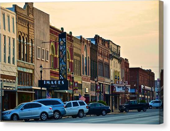 Main Street Denison Canvas Print