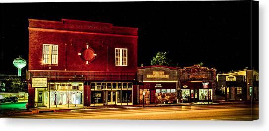 Smokehouses Canvas Print - Main Street East Bernard by David Morefield