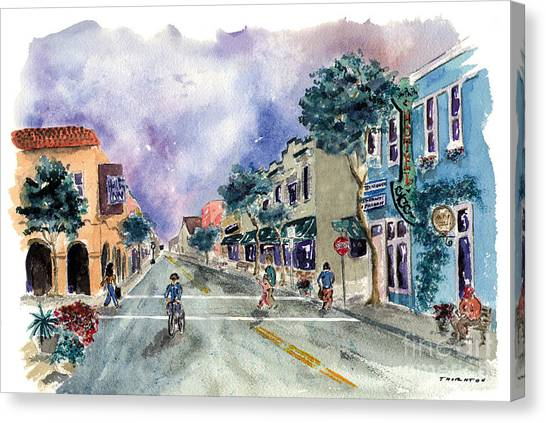 Main Street Half Moon Bay Canvas Print