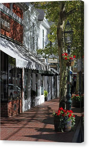 Main Street In Edgartown Canvas Print by Juergen Roth
