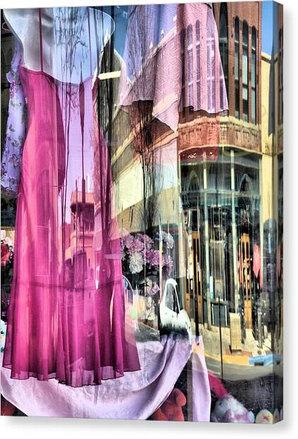 Main Street Reflections Canvas Print