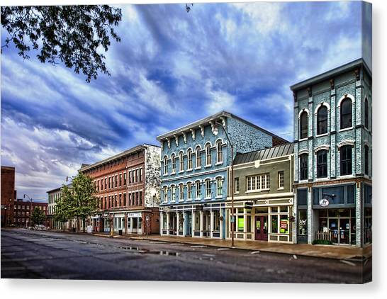 Storefront Canvas Print - Main Street Usa by Tom Mc Nemar