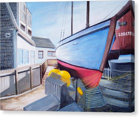 Maine Boatyard Canvas Print