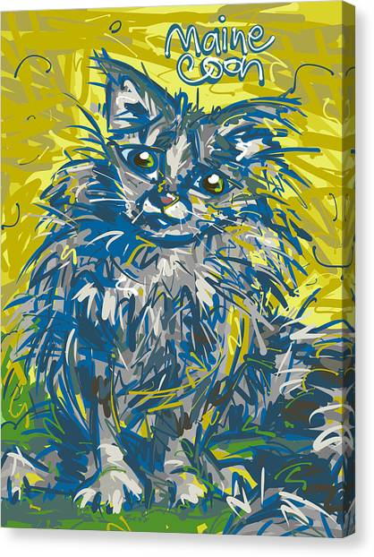 Main Coons Canvas Print - Maine Coon Cat by Brett LaGue