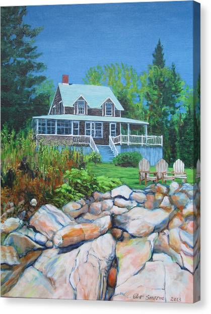Maine Cottage Canvas Print