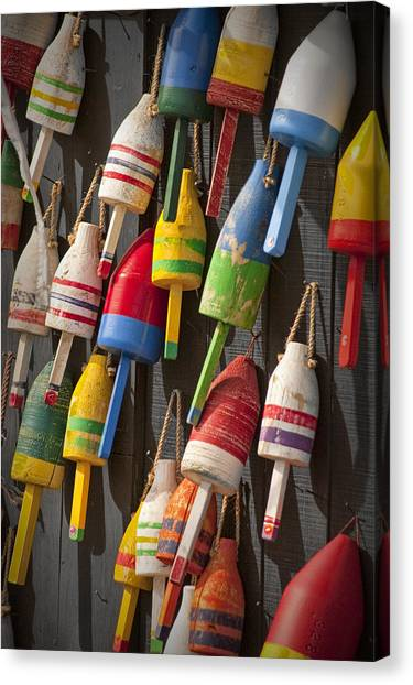 Maine Fishing Buoys Canvas Print