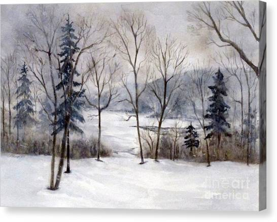 Maine Winter Canvas Print