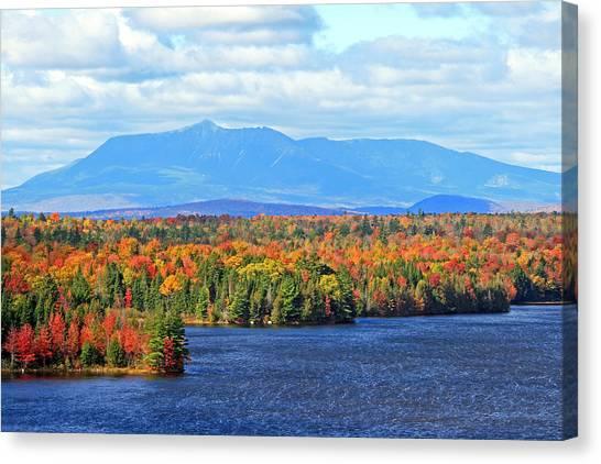 Maine's Mt. Katahdin In Autumn Canvas Print