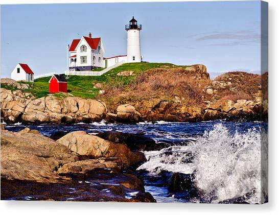 Maine's Nubble Light Canvas Print