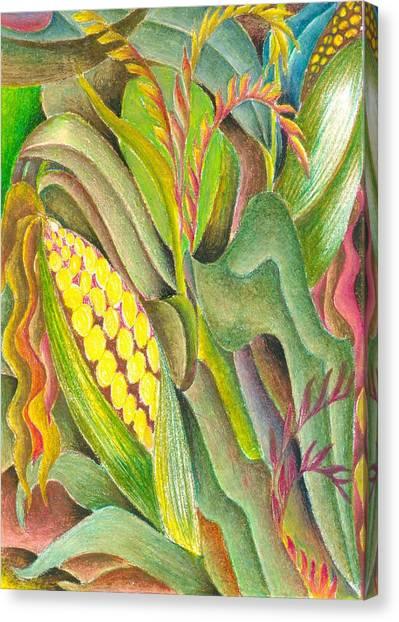 Maize Canvas Print by Jaanaka Kandepola