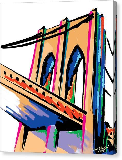 Majestic Brooklyn Bridge Canvas Print