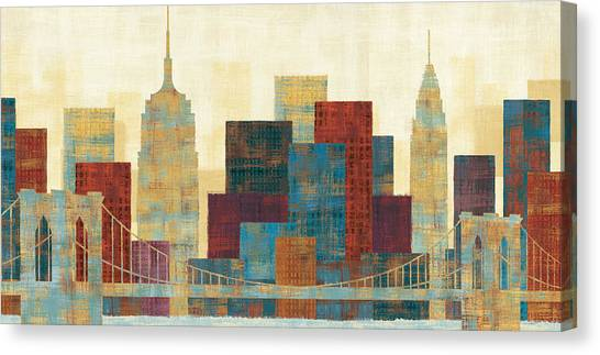 Central Park Canvas Print - Majestic City by Michael Mullan