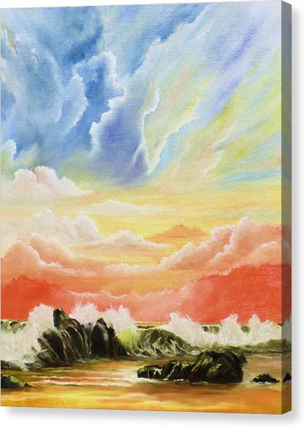 Majestic Clouds Canvas Print by Janet Hufnagle