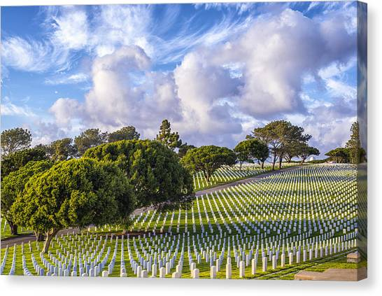 Fort Rosecrans National Cemetery Canvas Print - Memories by Joseph S Giacalone