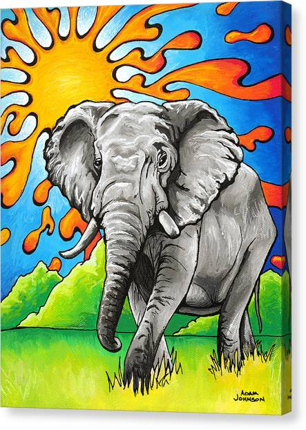 Majestic Elephant Canvas Print