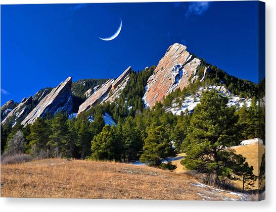 Majestic Flatirons Of Boulder Colorado Canvas Print